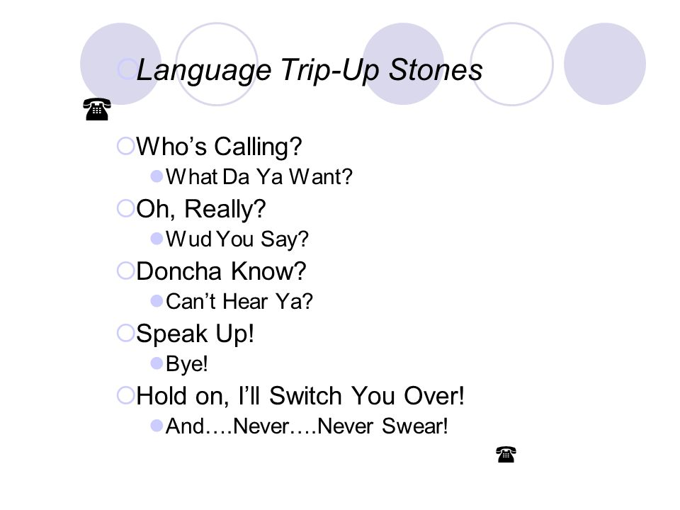 Language Trip-Up Stones 