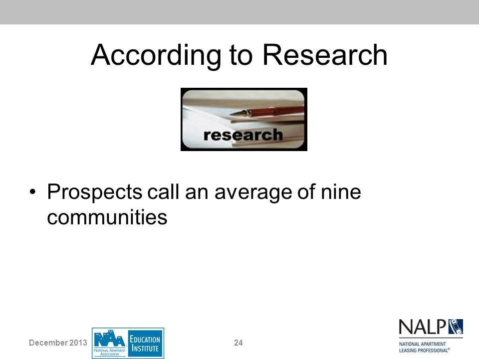 According to Research Prospects call an average of nine communities