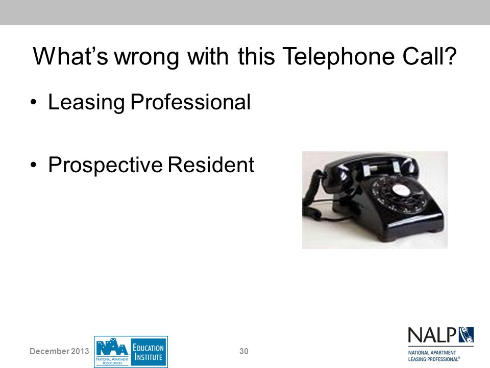 What's wrong with this Telephone Call