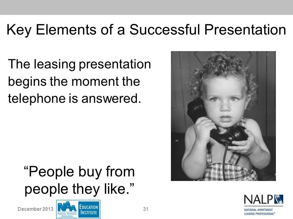 Key Elements of a Successful Presentation