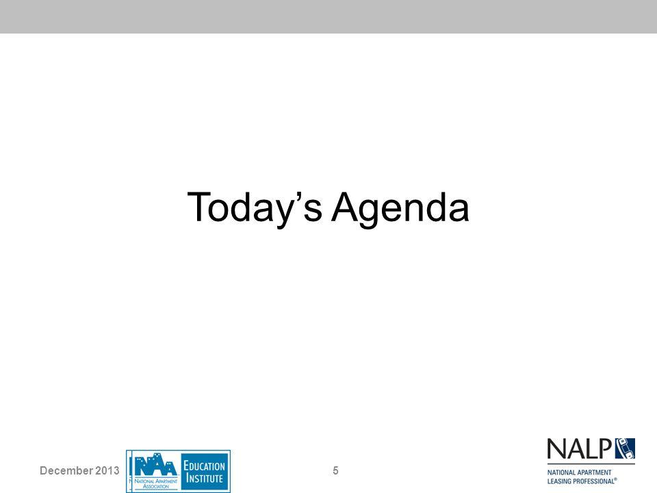 Today's Agenda December 2013