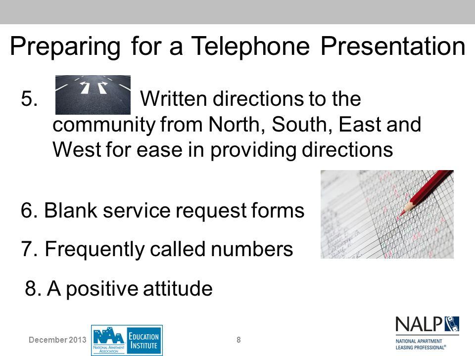 Preparing for a Telephone Presentation