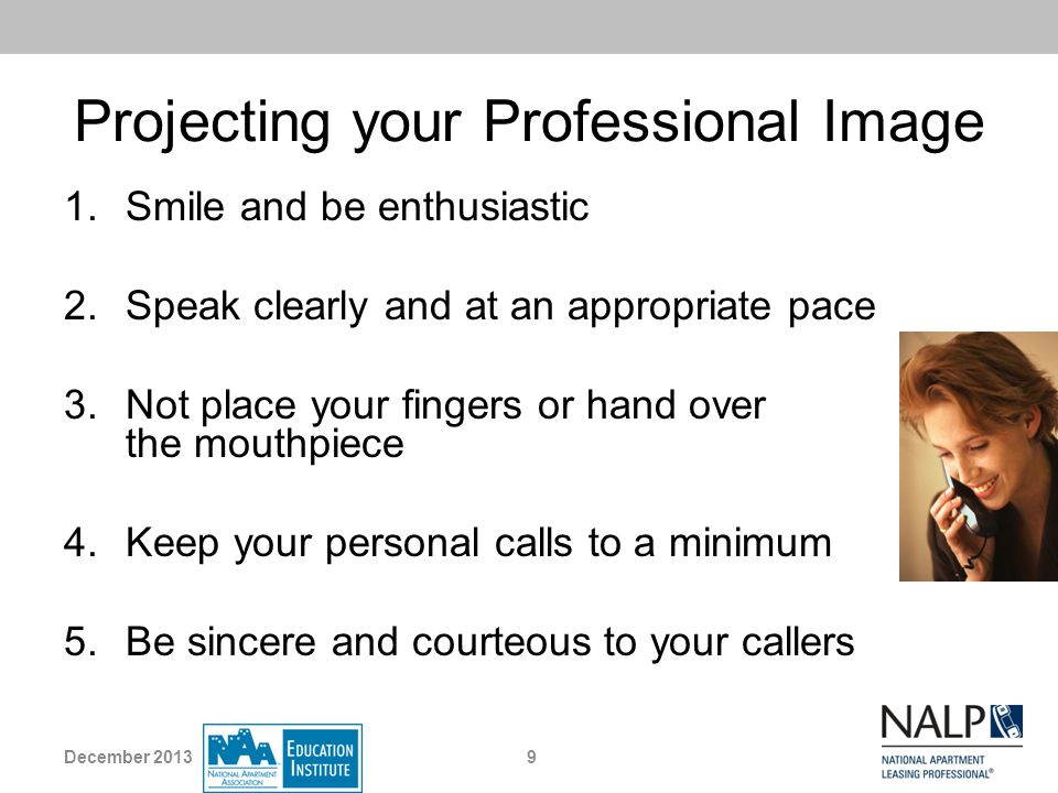 Projecting your Professional Image
