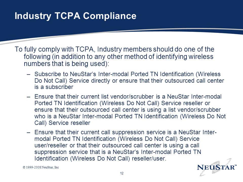 Industry TCPA Compliance