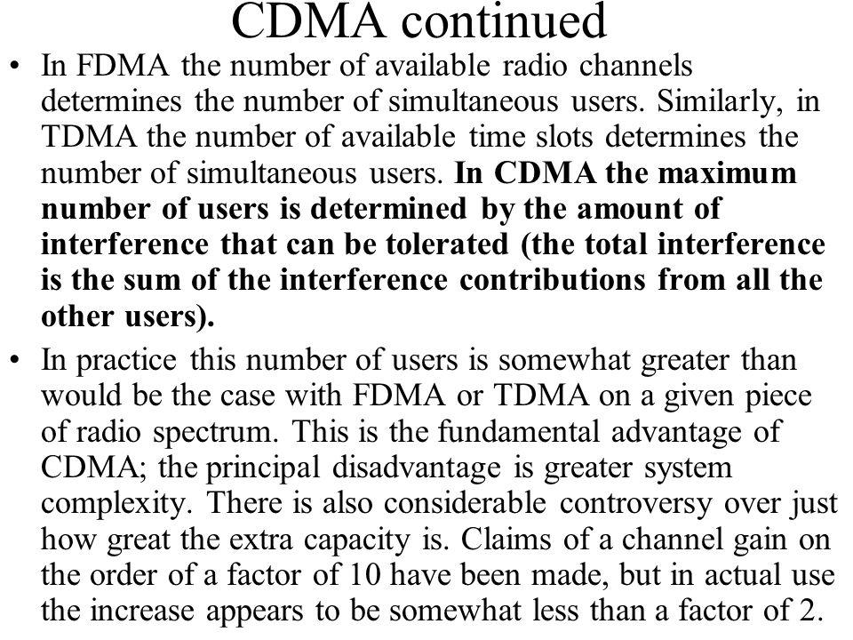 CDMA continued