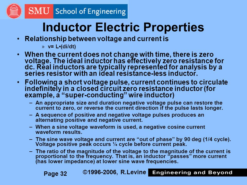 Inductor Electric Properties