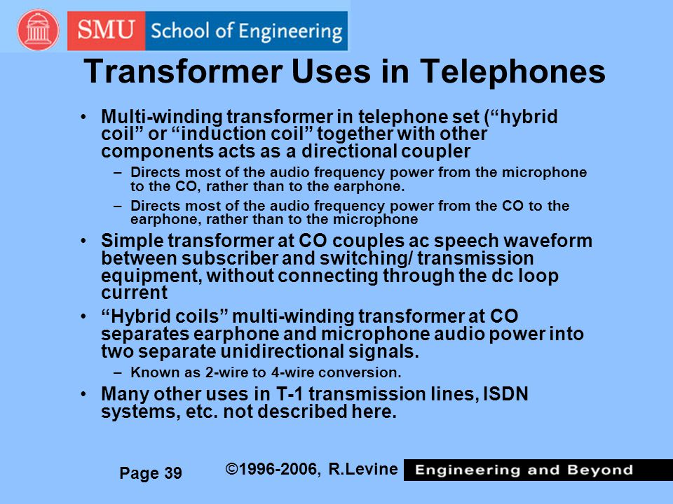 Transformer Uses in Telephones
