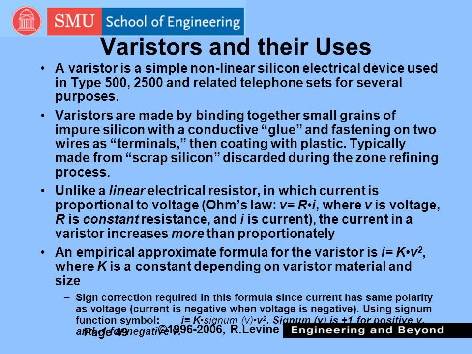 Varistors and their Uses