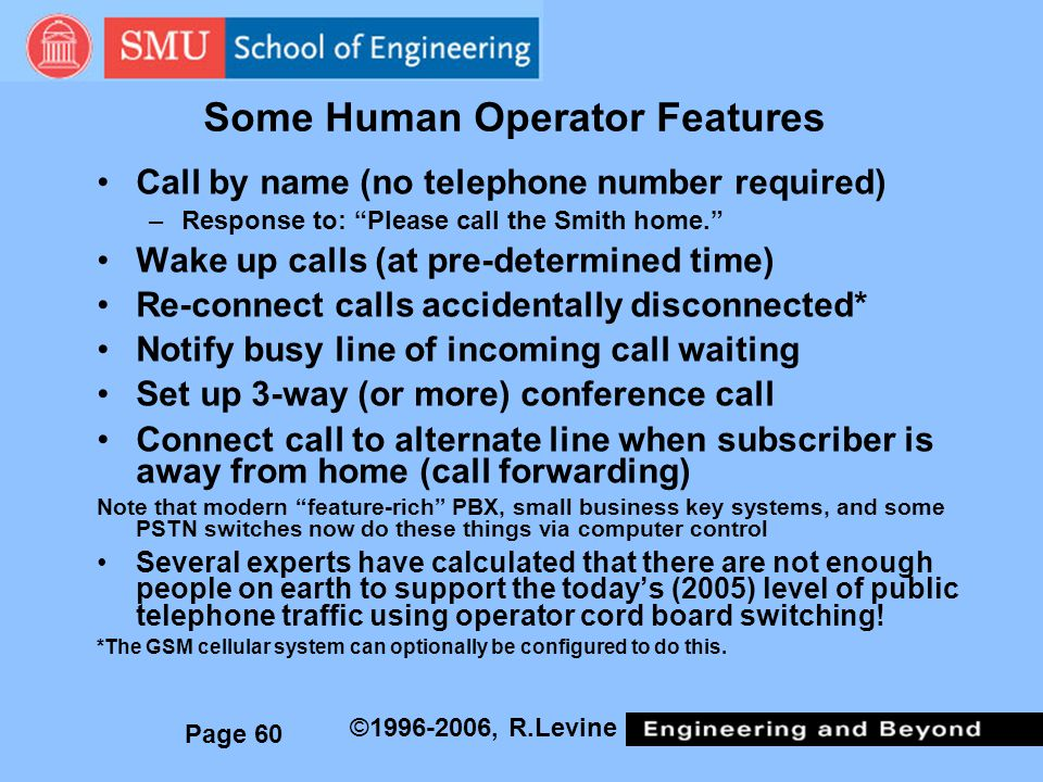 Some Human Operator Features