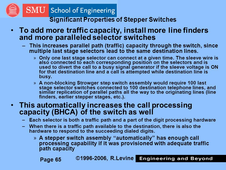 Significant Properties of Stepper Switches