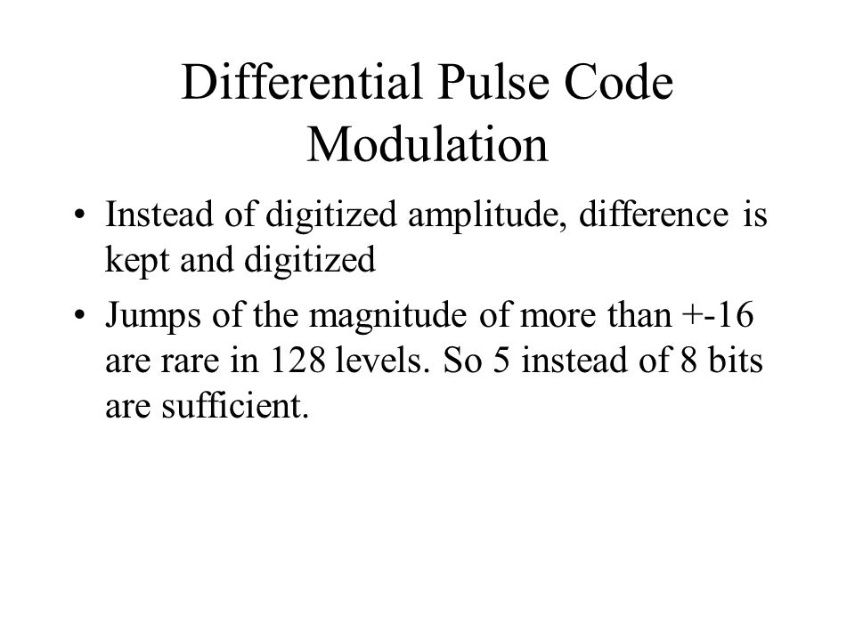 Differential Pulse Code Modulation