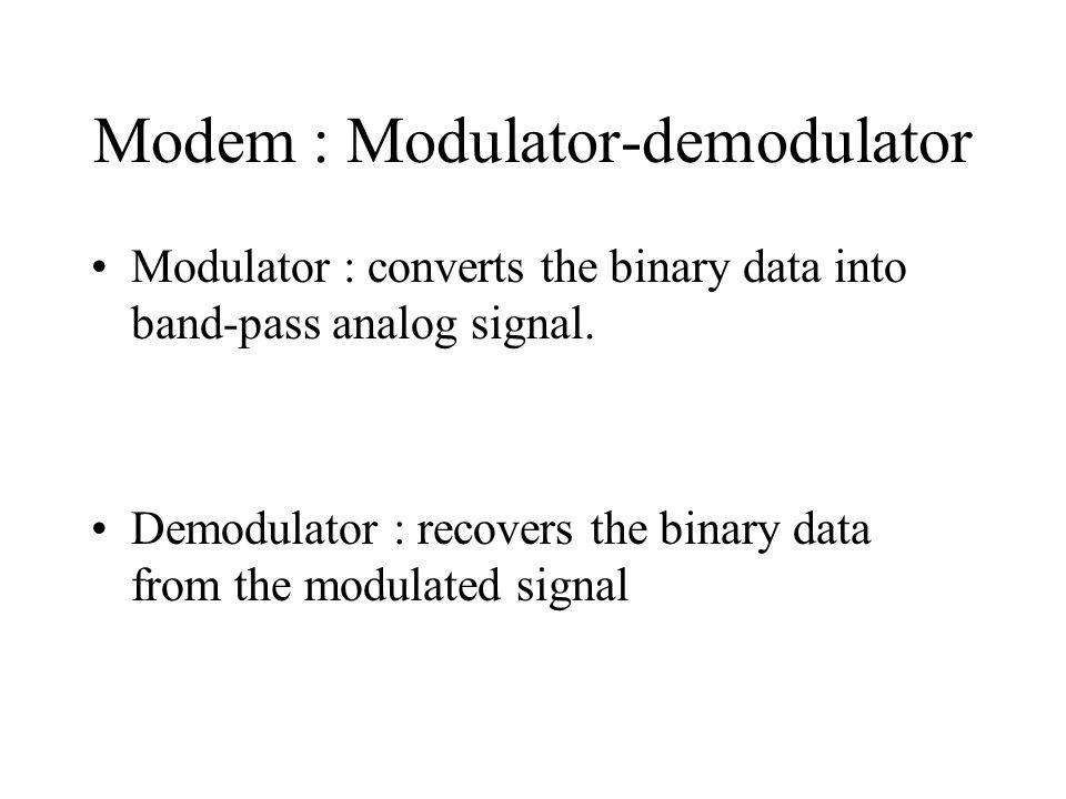 Modem : Modulator-demodulator