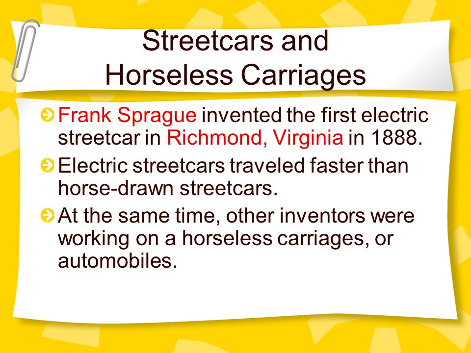 Streetcars and Horseless Carriages