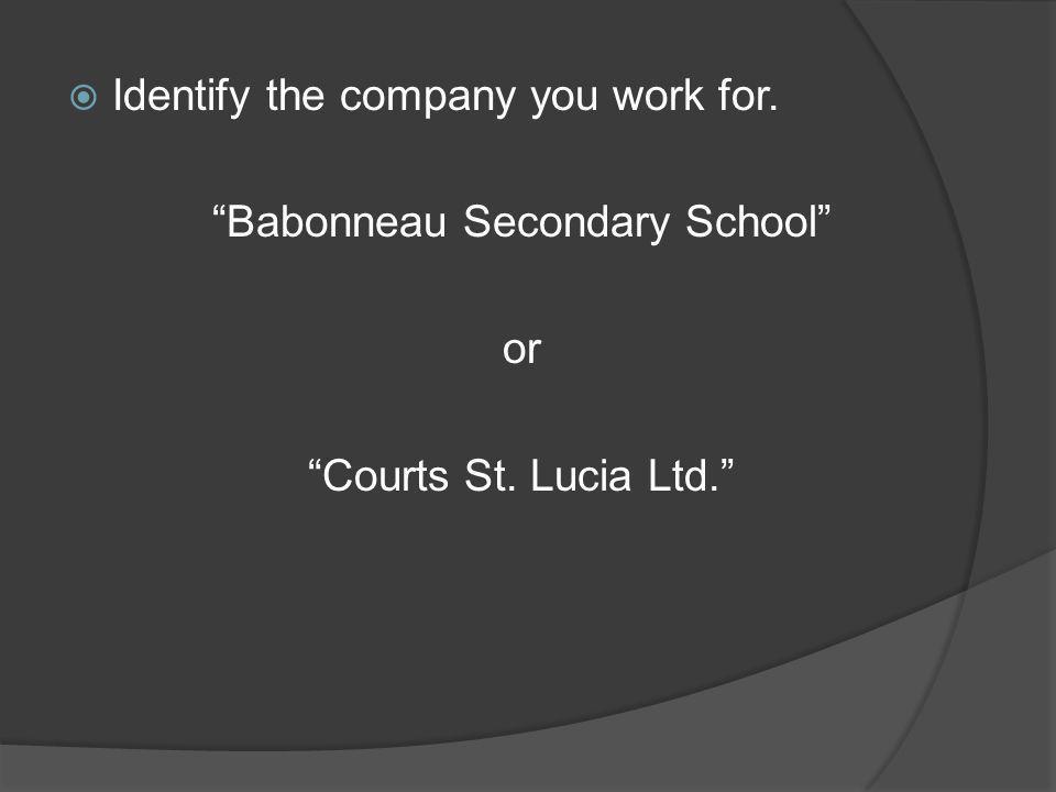 Babonneau Secondary School