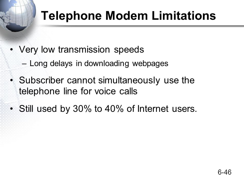 Telephone Modem Limitations