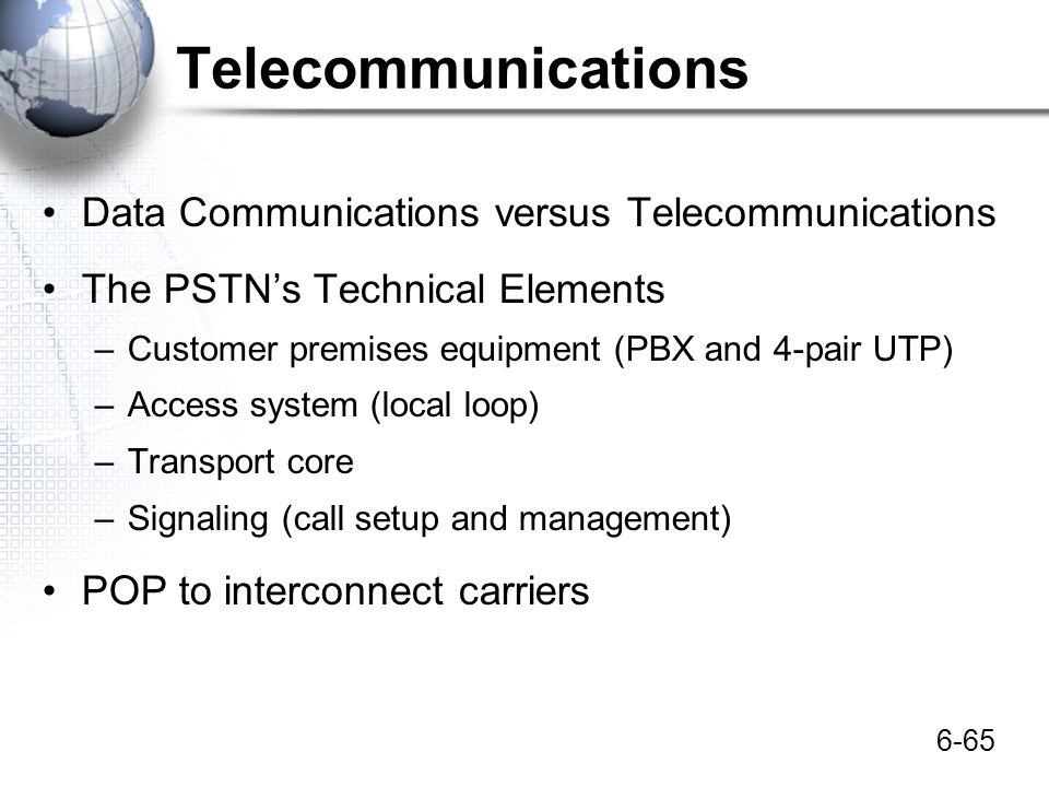 Telecommunications Data Communications versus Telecommunications