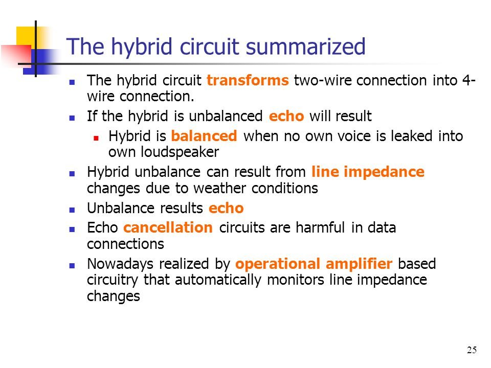 The hybrid circuit summarized