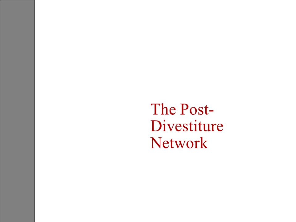 The Post-Divestiture Network