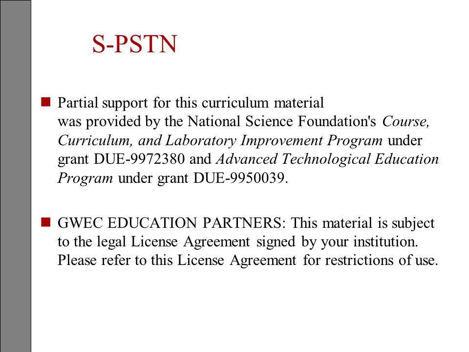 Student Notes S-PSTN. S-PSTN.