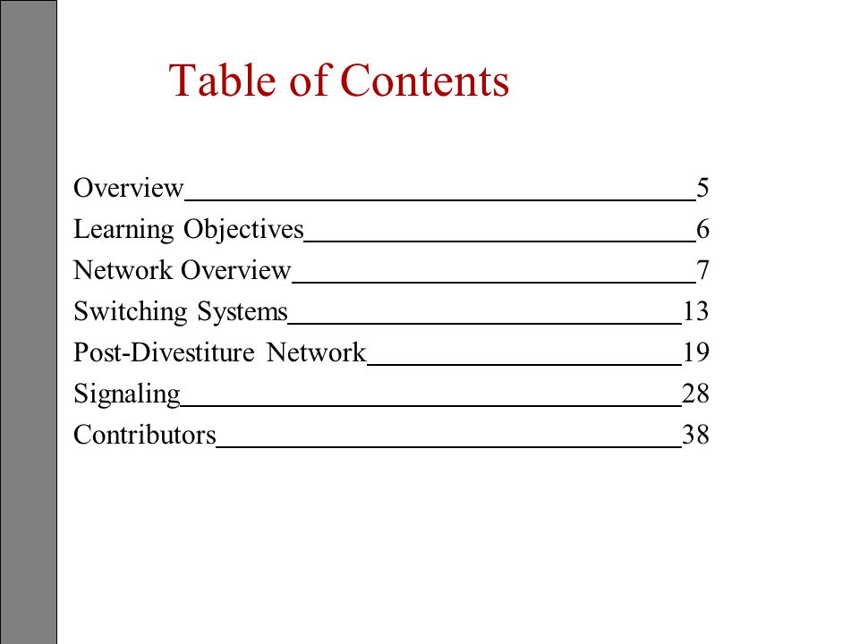 Public switched telephone network s pstn ppt download table of contents overview 5 learning objectives 6 network overview 7 publicscrutiny Images