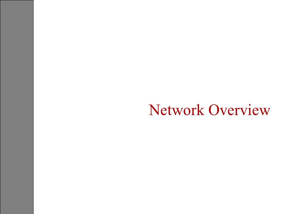 Network Overview Student Notes S-PSTN