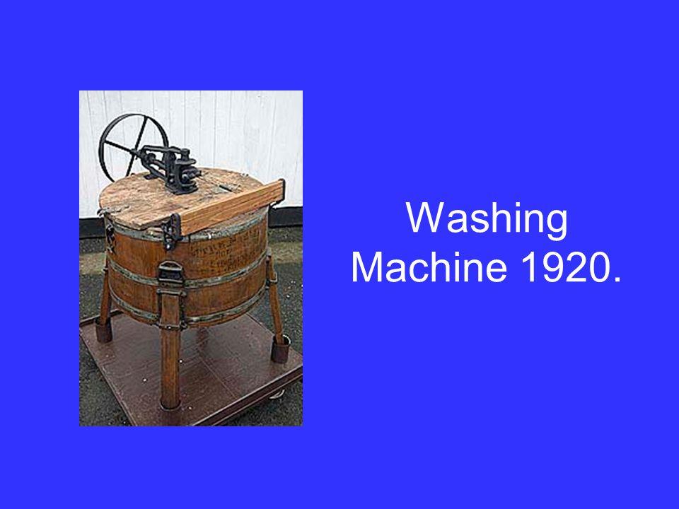 Washing Machine 1920.