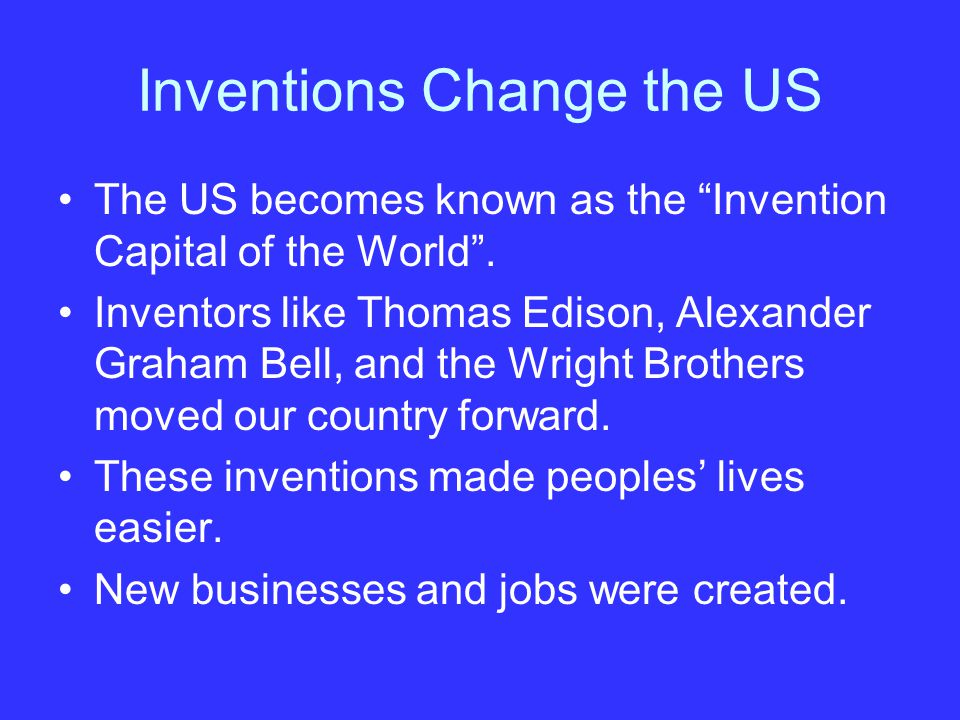 Inventions Change the US