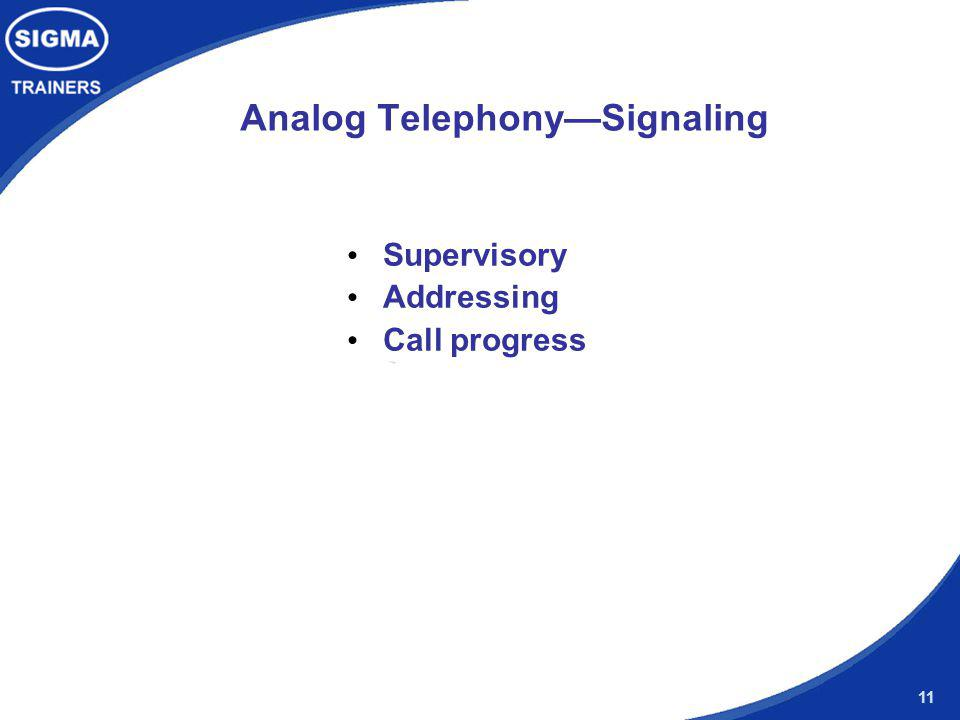 Analog Telephony—Signaling