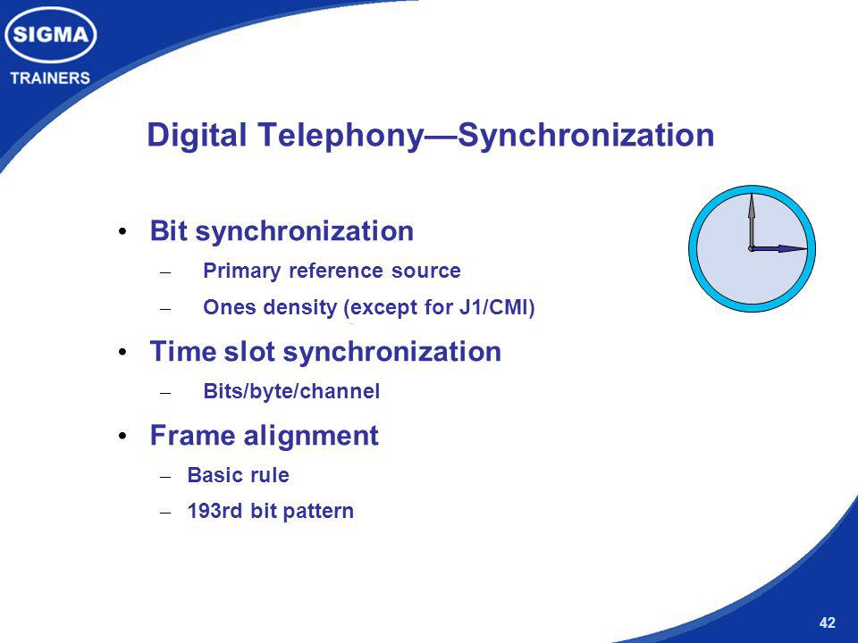 Digital Telephony—Synchronization