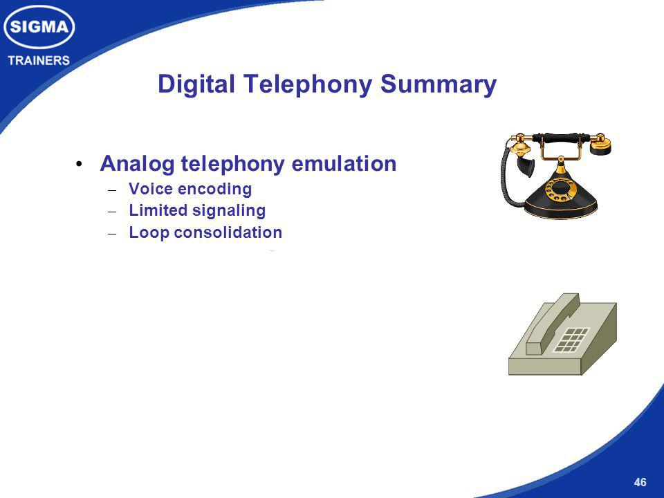 Digital Telephony Summary