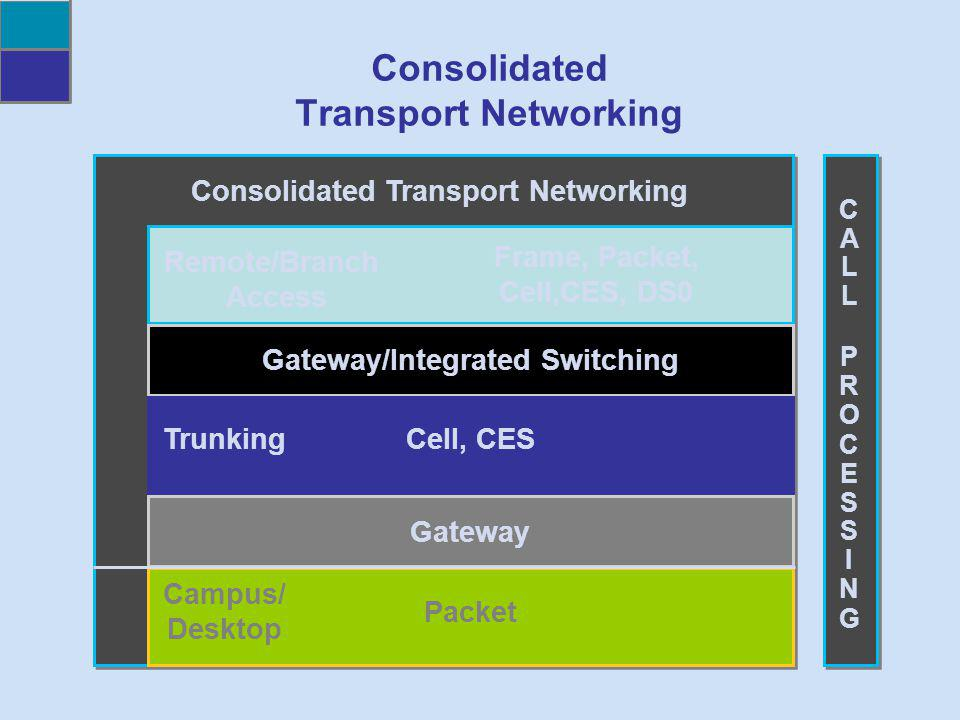 Consolidated Transport Networking