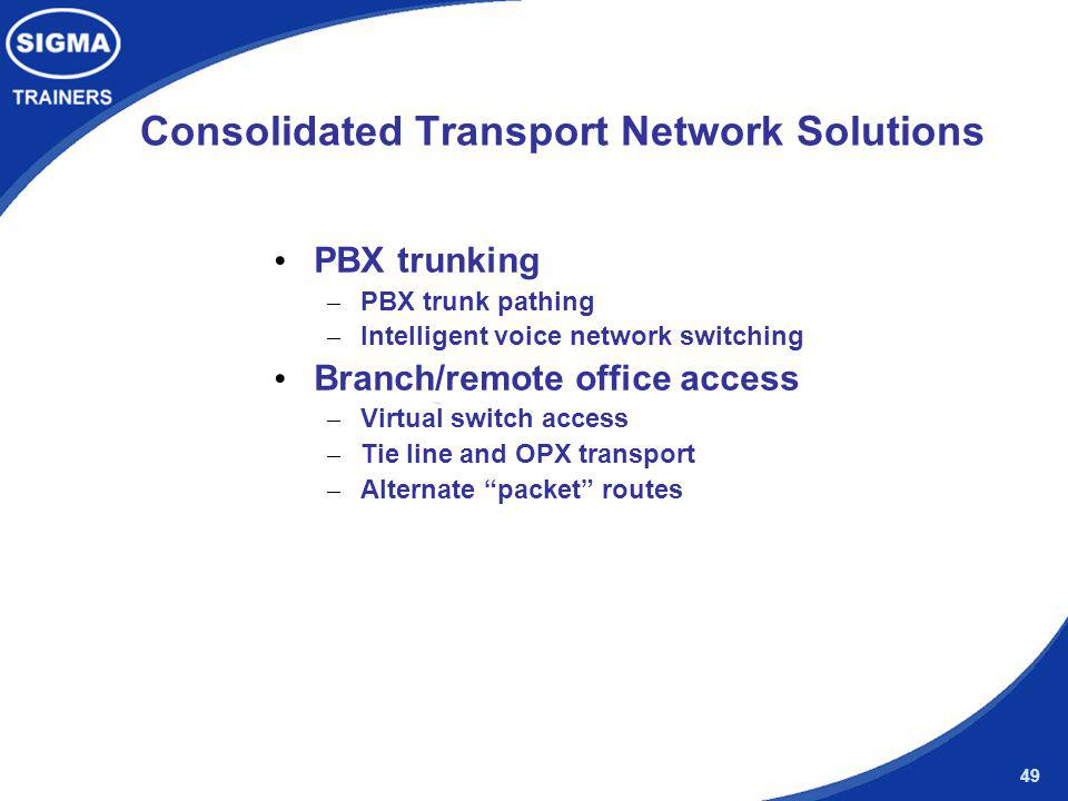 Consolidated Transport Network Solutions
