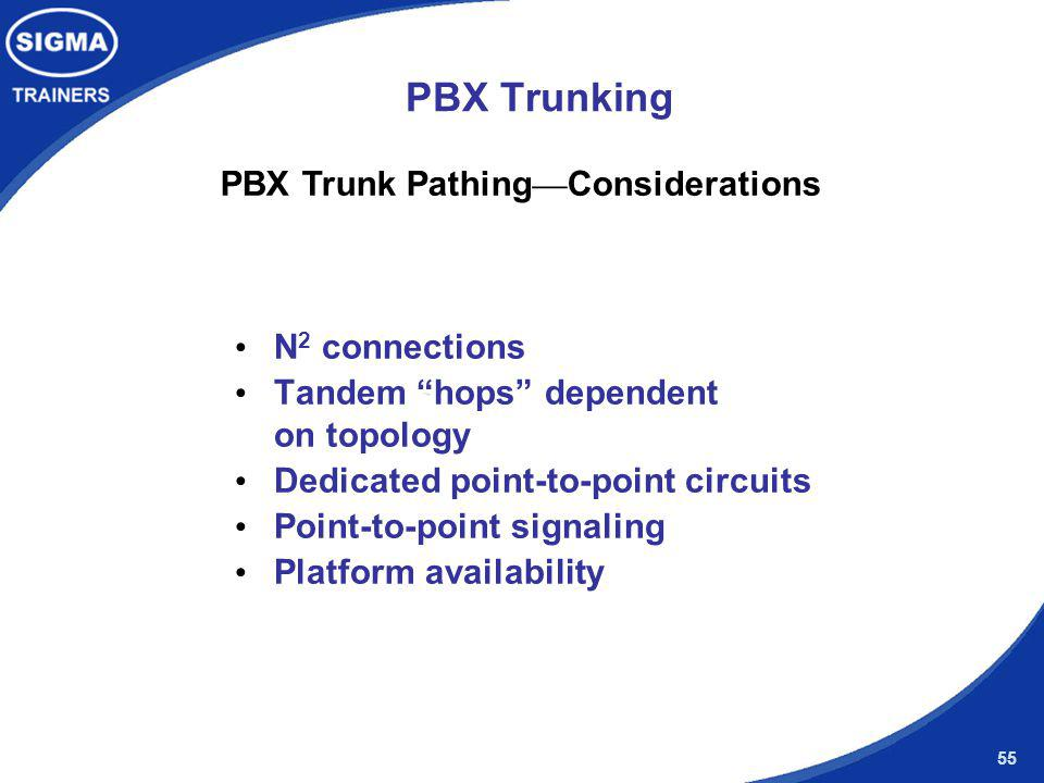 PBX Trunk Pathing—Considerations