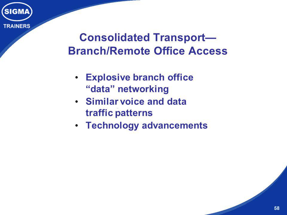 Consolidated Transport— Branch/Remote Office Access