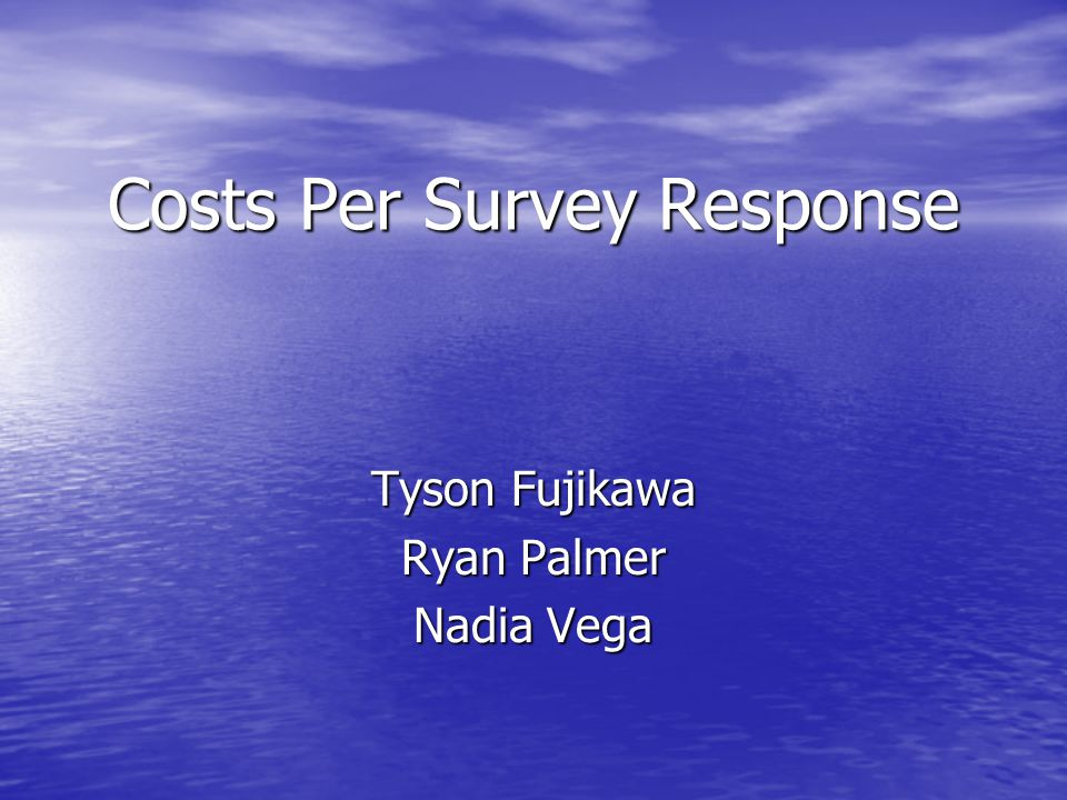 Costs Per Survey Response