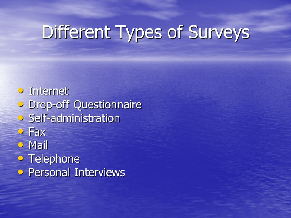Different Types of Surveys