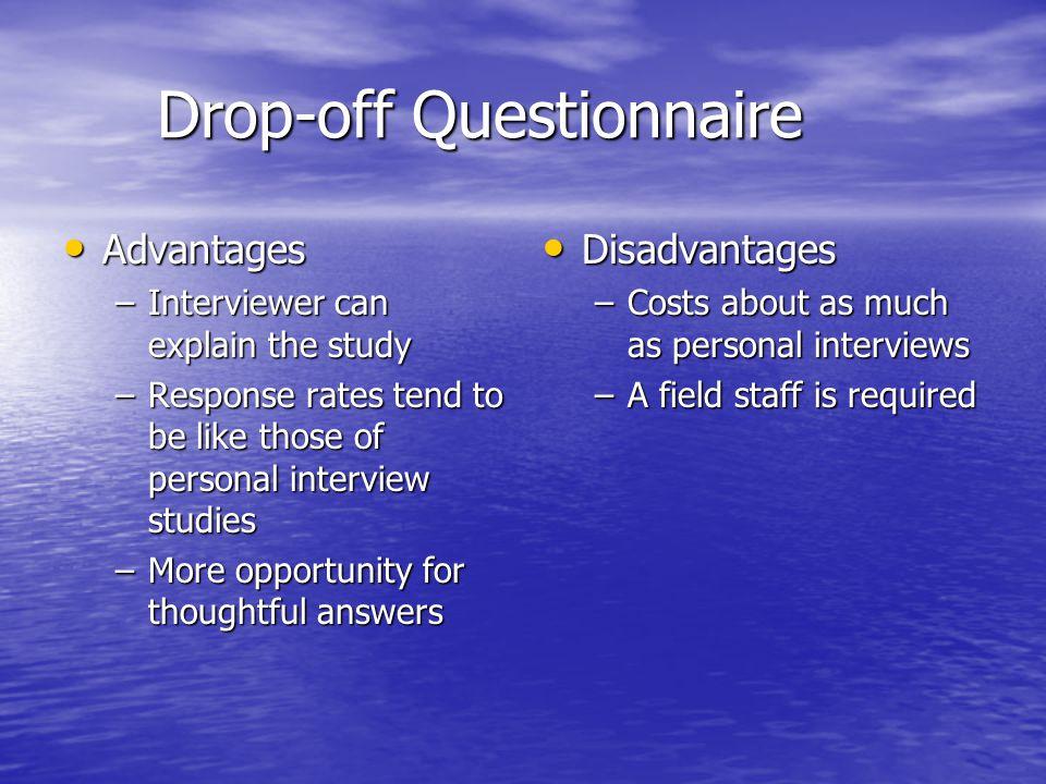 Drop-off Questionnaire