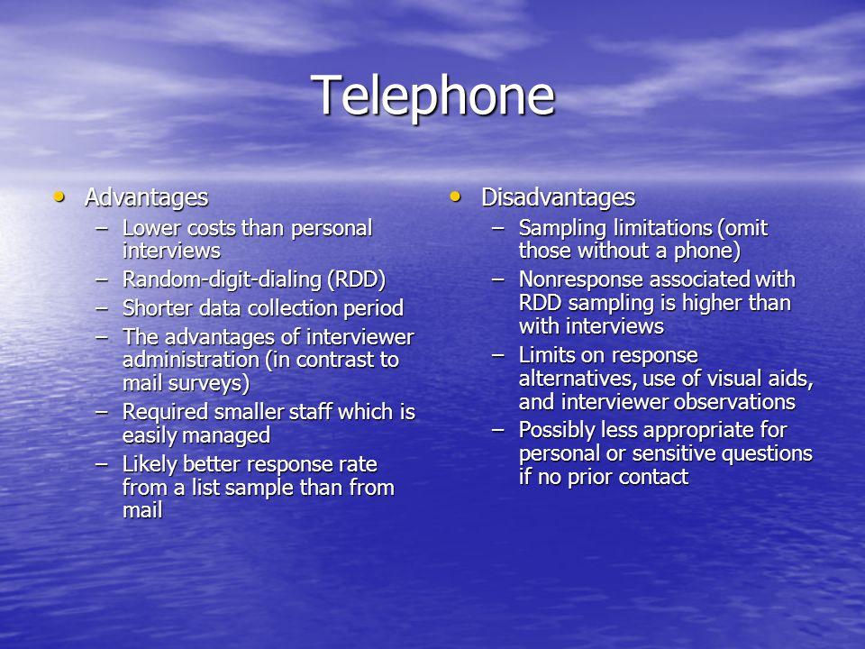 Telephone Advantages Disadvantages