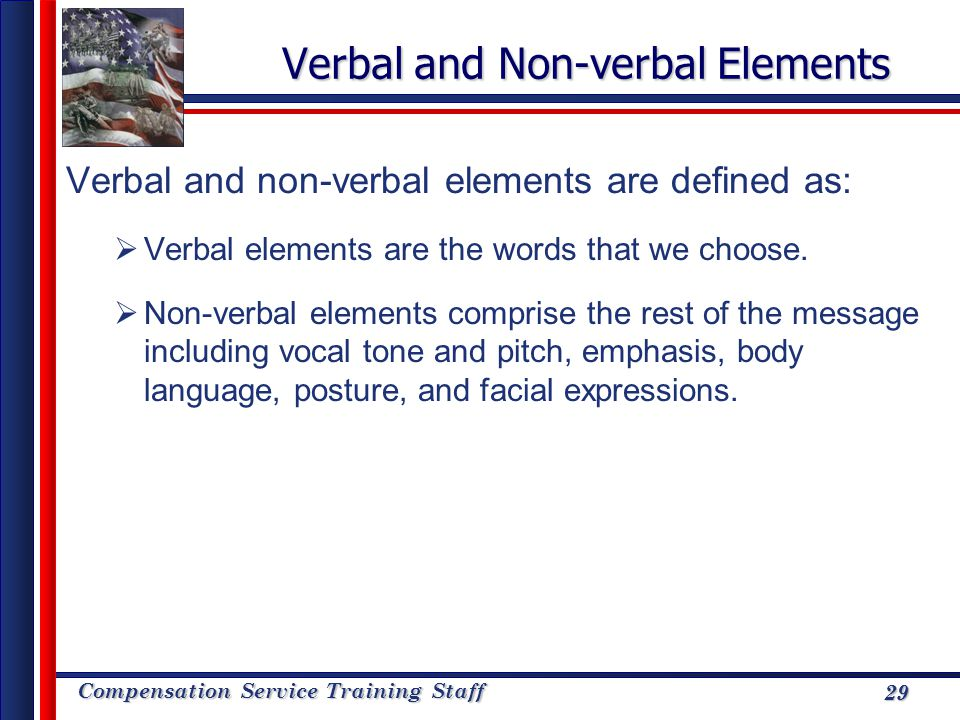 Verbal and Non-verbal Elements