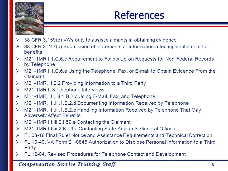 References 38 CFR 3.159(e) VA s duty to assist claimants in obtaining evidence.