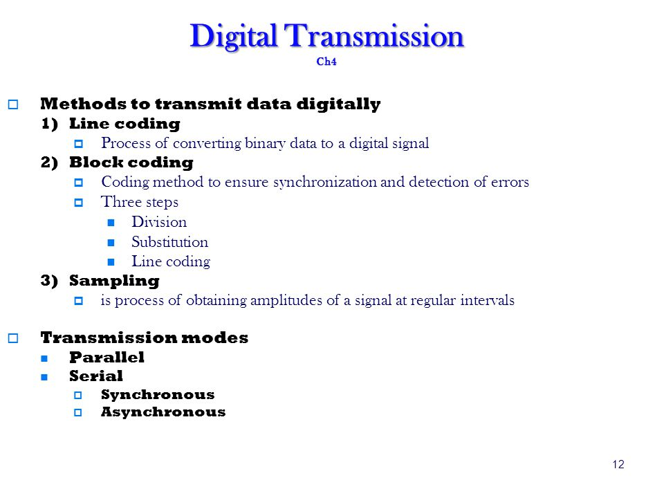 Digital Transmission Ch4