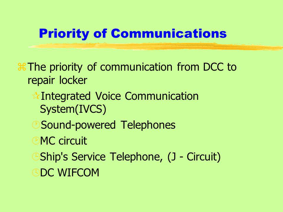 Priority of Communications