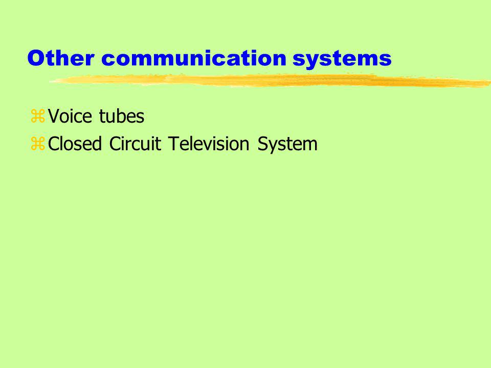 Other communication systems