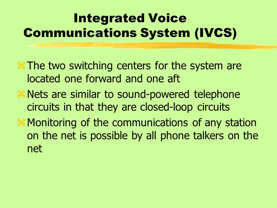 Integrated Voice Communications System (IVCS)