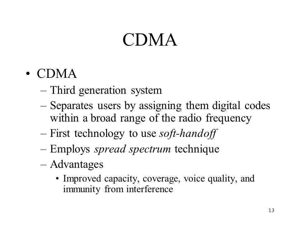 CDMA CDMA Third generation system