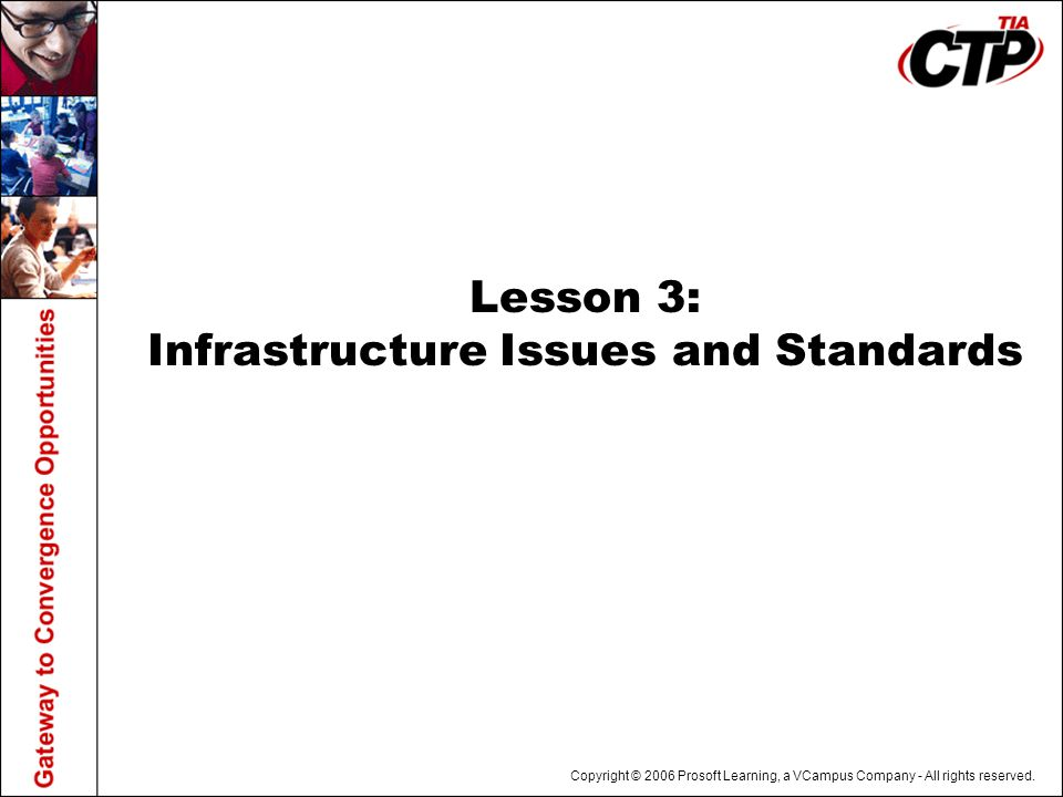 Lesson 3: Infrastructure Issues and Standards