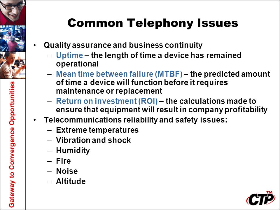 Common Telephony Issues