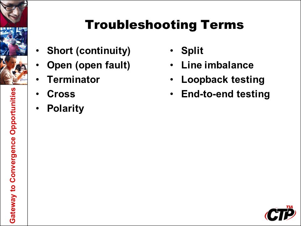 Troubleshooting Terms