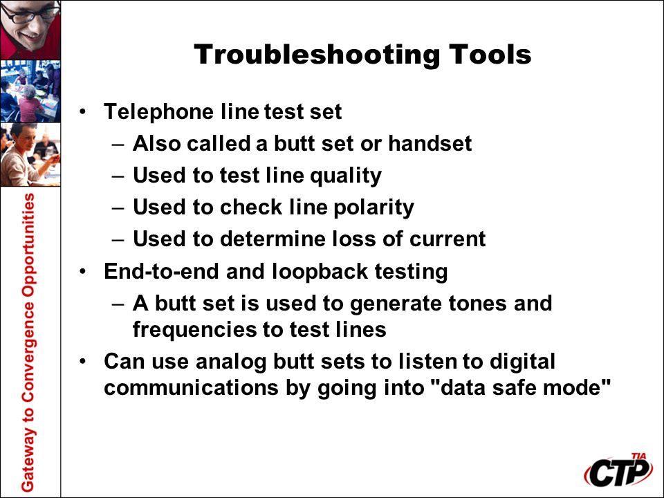Troubleshooting Tools