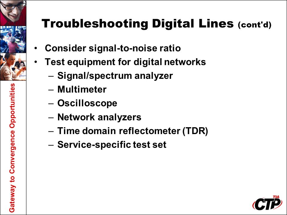 Troubleshooting Digital Lines (cont d)